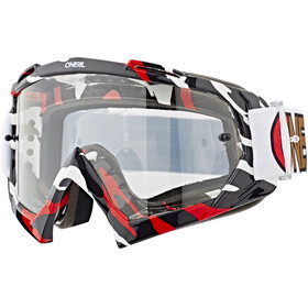 ONeal B-10 Goggle STREAM white/red-clear